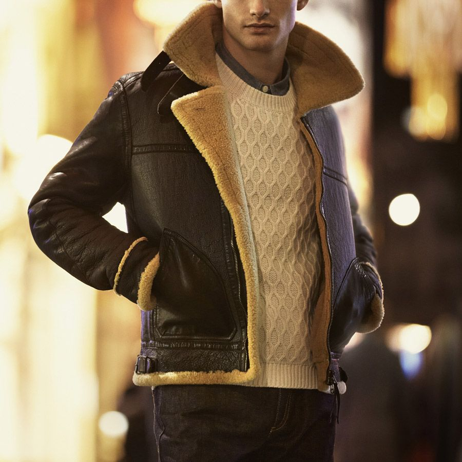 Shearling x Leather | Style | Pinterest | Stylish winter coats ...