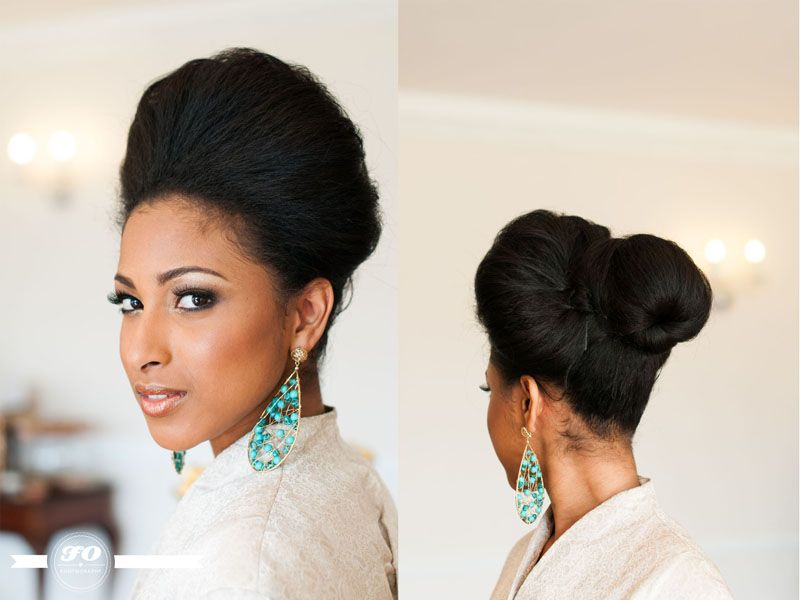 White, Black and Gold Wedding Make up. African-Vintage-Bridal ...