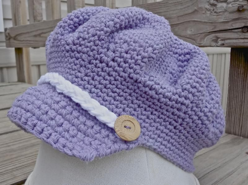 Newsboy Cap - I\'ve had this in my crochet folder for quite some time ...