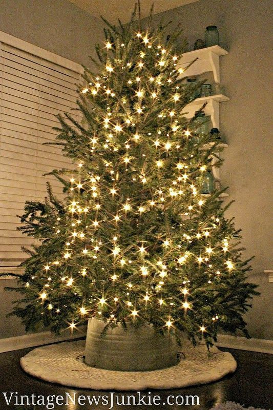 How to Make a Tree Skirt Out of a Galvanized Tub *Video