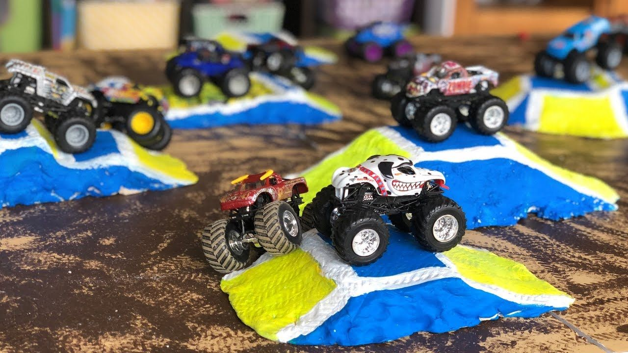 Diy Monster Jam Toy Track Jumps For Hot Wheels Trucks With