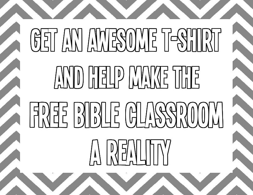 T-shirts which support the vision: : https://www.booster.com/onlinebiblestudy
