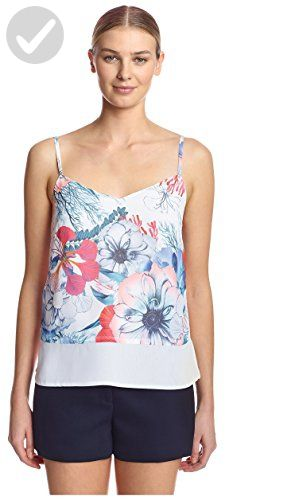 869799224c French Connection Women's Floral Reef Tank Top, White/Multi, 4 - All about  women (*Amazon Partner-Link)