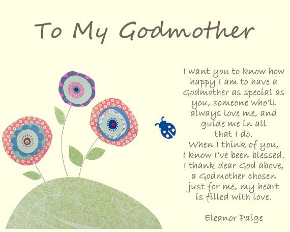 Gift For Godmother Godmother Gift Mothers Day Gift: Personalized Gift For