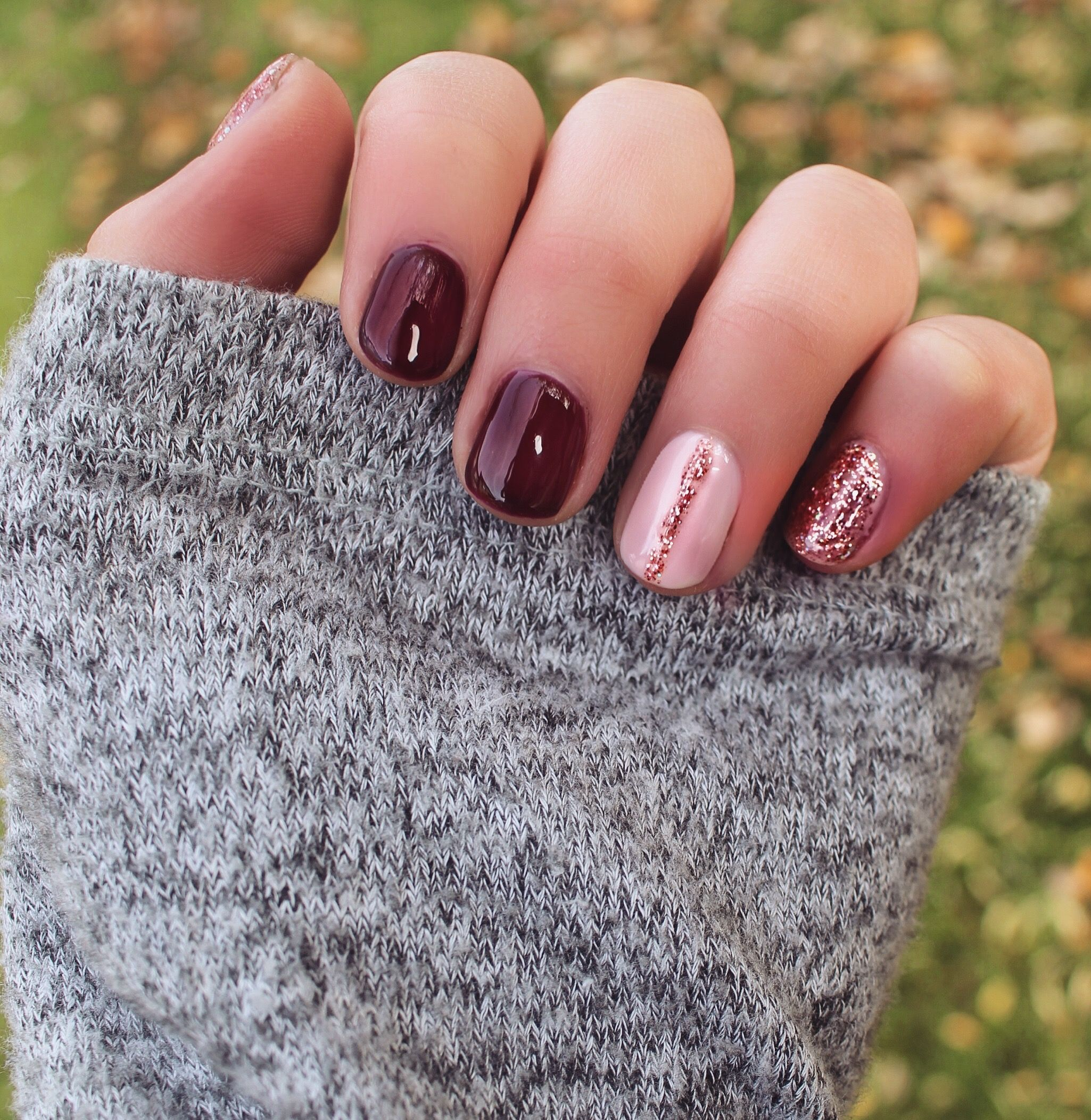 Fall Nails Fall/Autumn fingernails done with gel nail ...