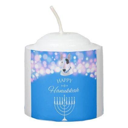 The TV Terrier Happy Hanukkah Candle