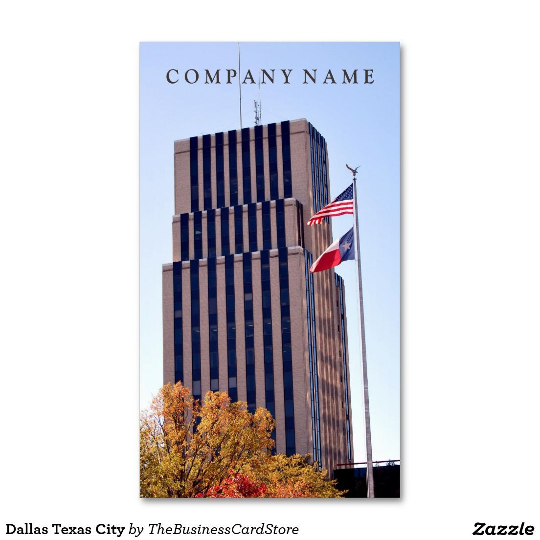 Dallas Texas City Standard Business Card | AMERICAN BUSINESS CARDS ...