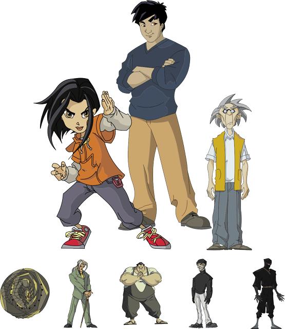 Jackie Chan Adventures Characters Vectors Like