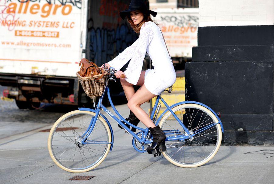 adorable dress, blue bike