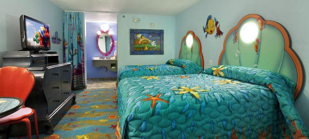 Art of animation little mermaid room with images
