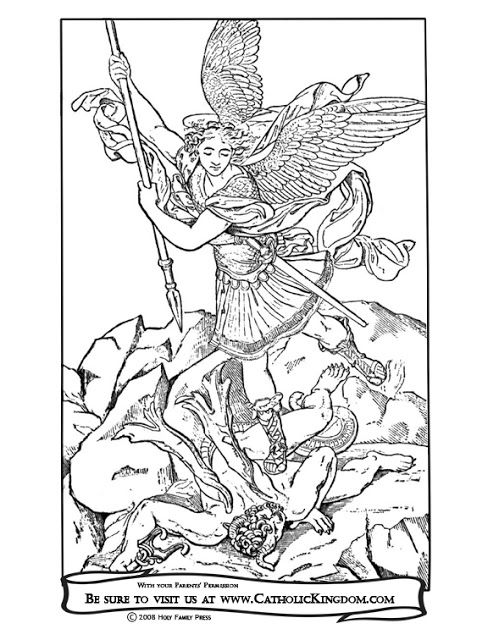 St Michael Prayer Cross Coloring Page Coloring Pages Coloring