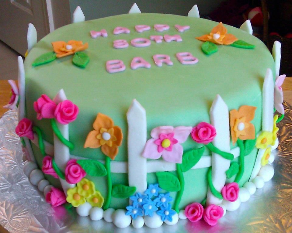 Flower Garden Birthday Cake With Images 70th Birthday Cake 80