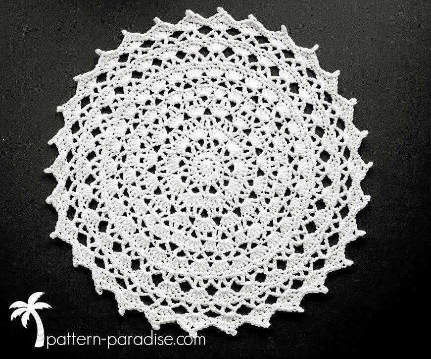Free Crochet Pattern & Yarn Review - Clea Doily | Pinterest