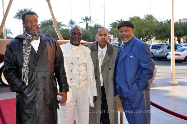 Photo I took of the Ink Spots on a red carpet in 2011.  I later talked a little with the guy on the left at the party.  A real nice guy.