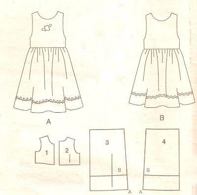 Molde De Vestido Infantil Passo A Passo Simples Para Imprimir Molde De Vestido Infantil Molde De Roupa Infantil Modelo De Vestido Infantil
