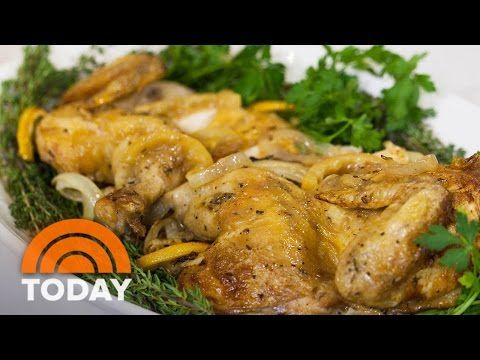 Inas Skillet Roasted Lemon Chicken Food Network Youtube