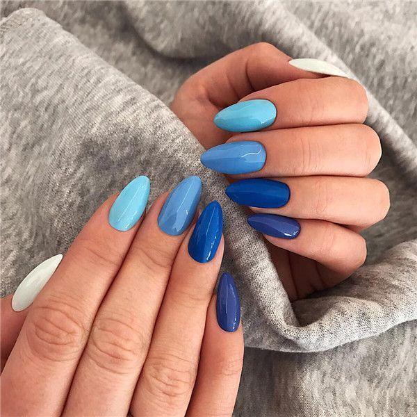 Más de 36 diseños de arte de uñas azul profundo para la temporada de invierno - pisbe