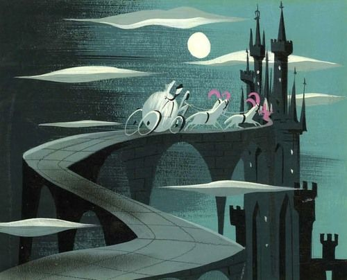 Mary Blair Illustration 'Cinderella and Coach'