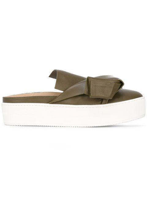 Vente Faible Coût En Ligne Remises En Ligne No21 Oversized bow flat sandals Acheter Des Collections Bon Marché 07S3wwcTd