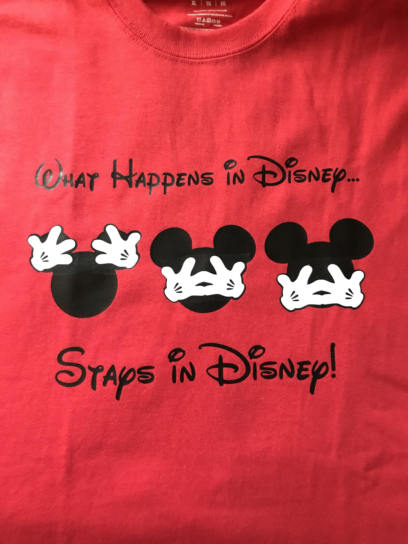 cae9559e What Happens in Disney Stays in Disney, What Happens in Disney Shirts, Disney  Shirt, Fun Shirt, Disney Christmas Shirt by LJCustomDesigns1 on Etsy