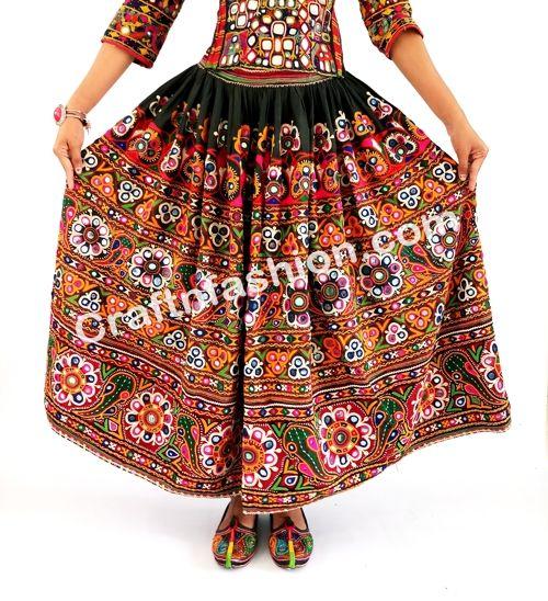 d3cfa14935 Vintage Rabari Ghagra with Kutchi hand embroidery- Vintage Banjara Skirt  -Belly Dance Skirt -Gypsy Banjara Skirt Girl's Belly Dance Skirt-