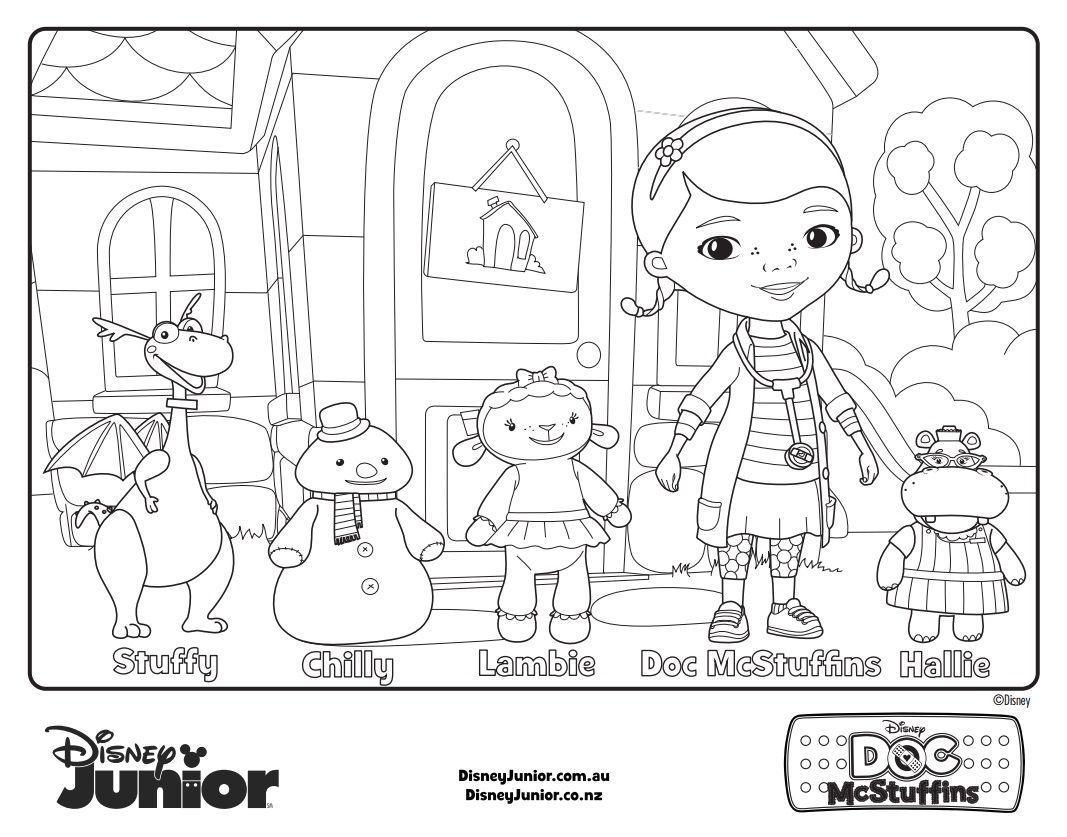 Magnífico Disney Jr Para Colorear Doc Mcstuffins Patrón - Dibujos ...