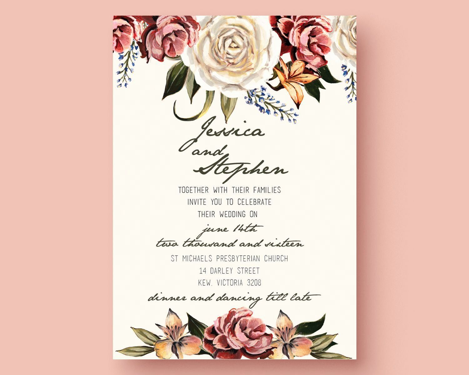 Wedding Invitations Template Free Download In 2021 Free Wedding Invitation Templates Wedding Invitation Card Template Wedding Invitation Templates