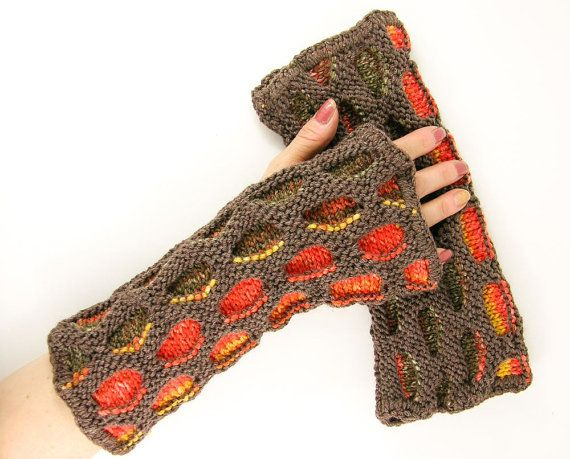 Colorful Gloves Knit Fingerless Gloves Fingerless Mittens Arm
