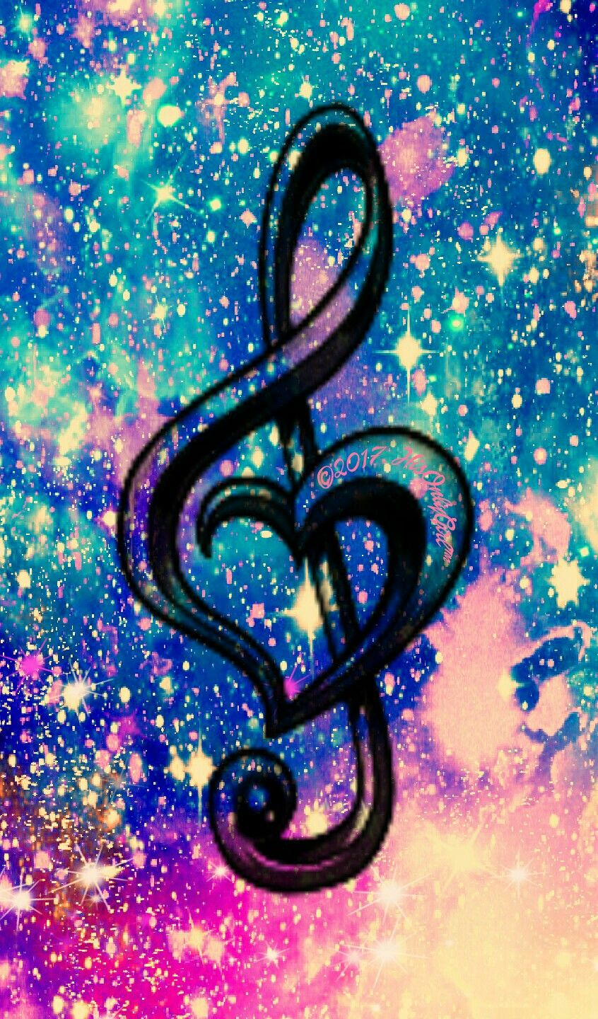 Love music galaxy wallpaper I created for the app CocoPPa! | Backgrounds | Galaxy wallpaper ...