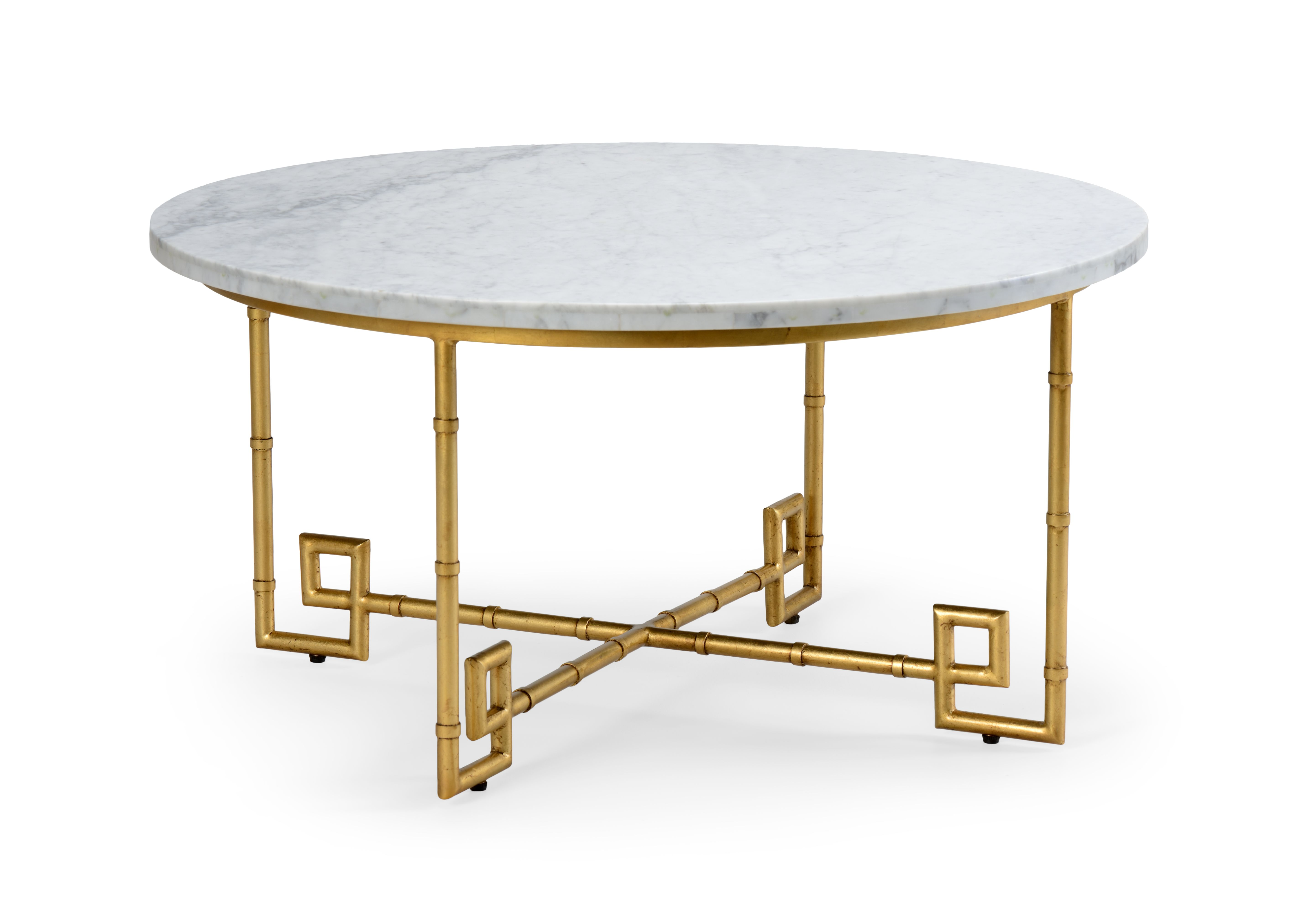 gold leaf aluminum bamboo cocktail table out of stock