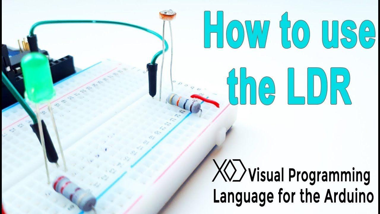 05# Arduino Visual Programming   How to use the LDR (photoresistor ...