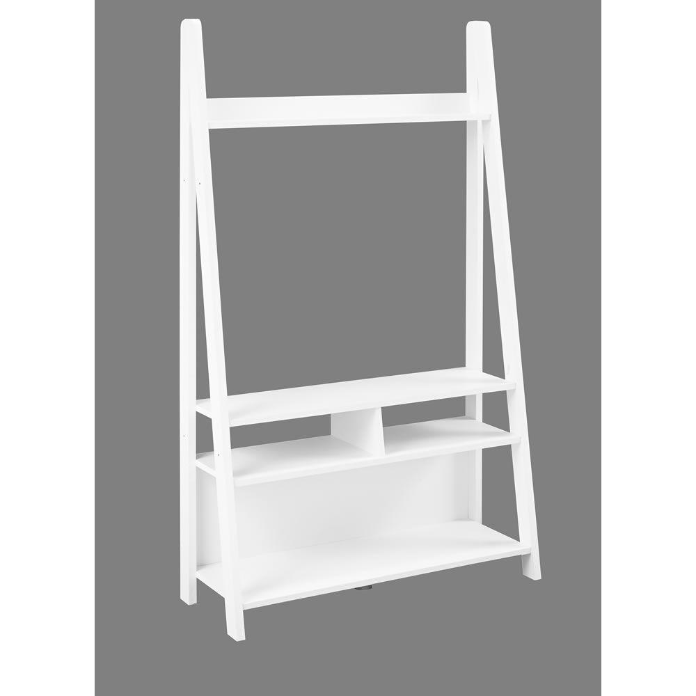 scandinavia white ladder tv unit decorating tv unit. Black Bedroom Furniture Sets. Home Design Ideas