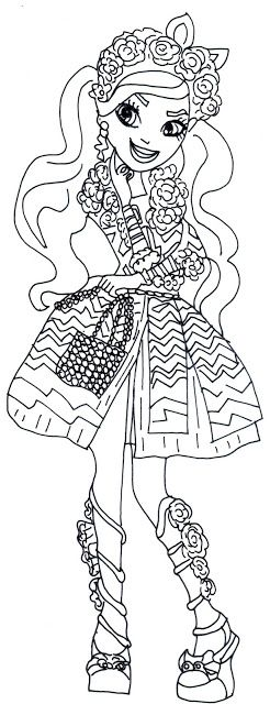Free Printable Ever After High Coloring Pages Kitty Cheshire