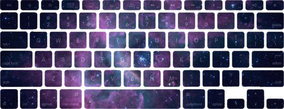 Lavender Nebula Stellar Ring Macbook by edwardstickerhands on Etsy, $10.00