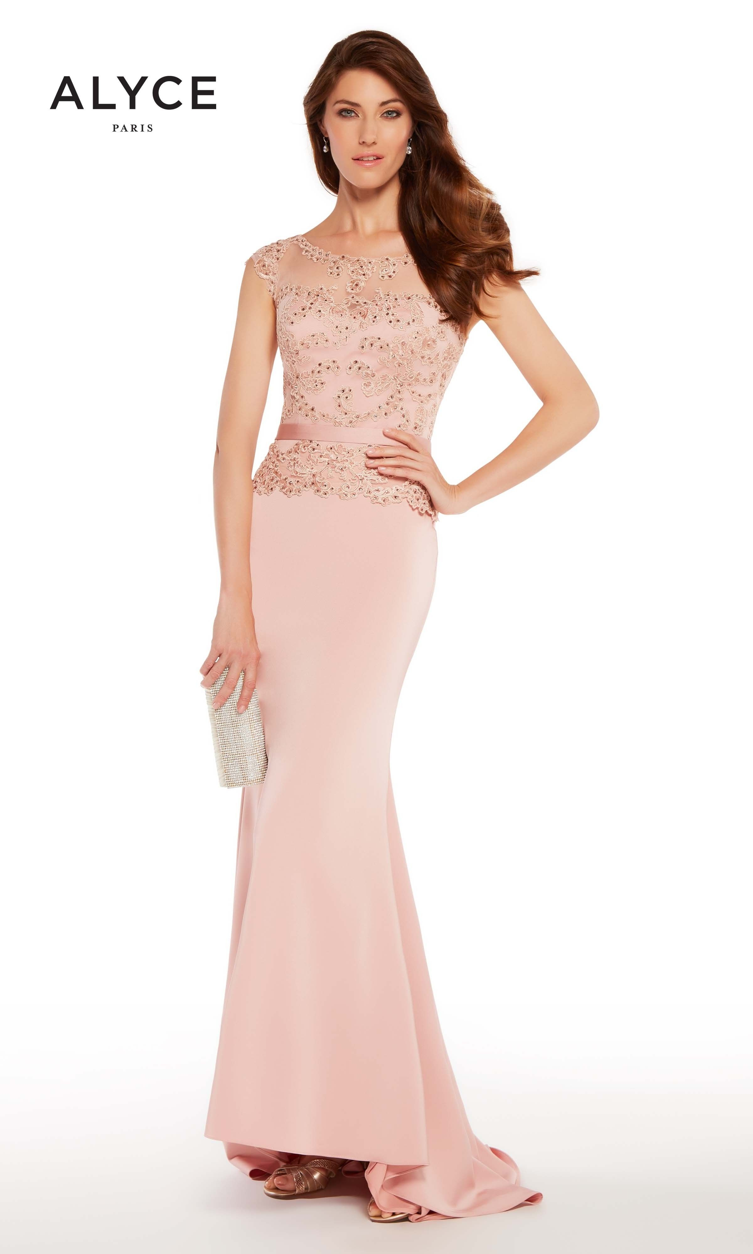 Alyce 27262 Long Gown with Jeweled Peplum Top | Pinterest ...