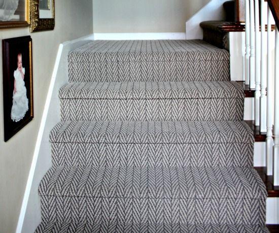Herringbone Stairway Carpet Living Room Carpet Stairway Carpet | Grey Herringbone Carpet Stairs | Antelope | Victorian | Middle Stair | Roger Oates | Blue