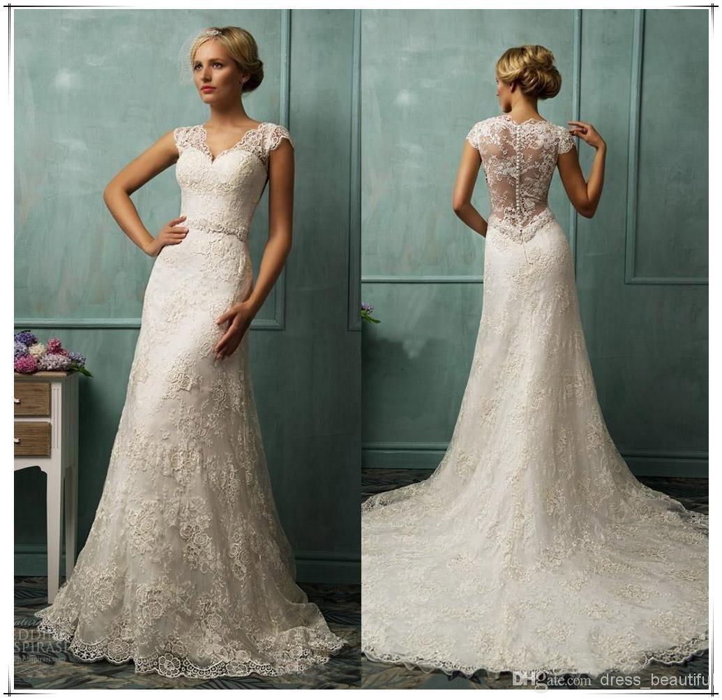 2019 Vintage Ivory Wedding Dresses - Country Dresses for Weddings ...
