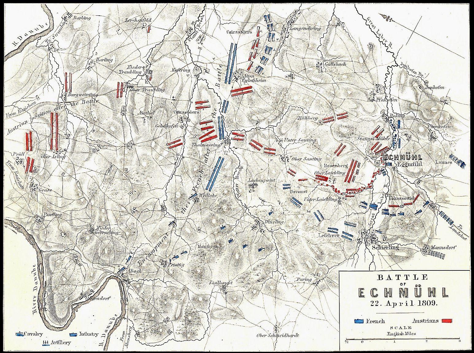 Bataille d'Eckmuhl, 22 avril 1809