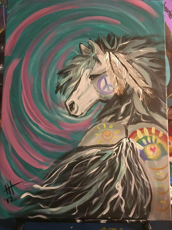 Paintings done by Holly Heidemann.  Custom order a painting of your horse 5123082129