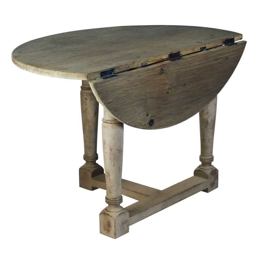French Country Cottage Drop Leaf Prague Table | Prague, Leaves and Drop