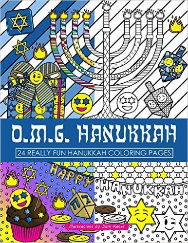 OMG Hanukkah Coloring Book 24 Really Fun Pages