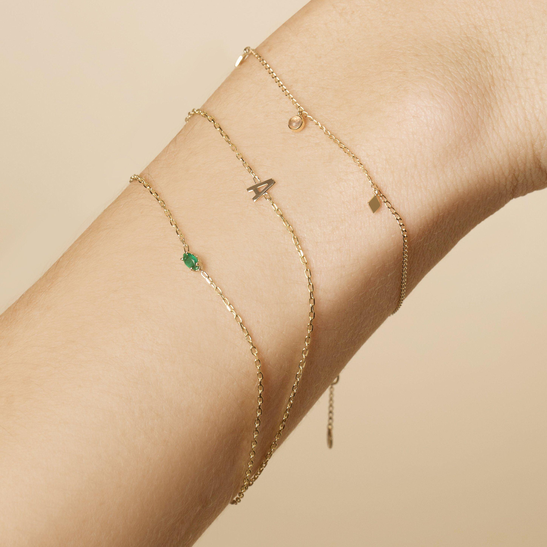 Gold Initial Bracelet Initial Bracelet Gold Initial Bracelet Gold Initial