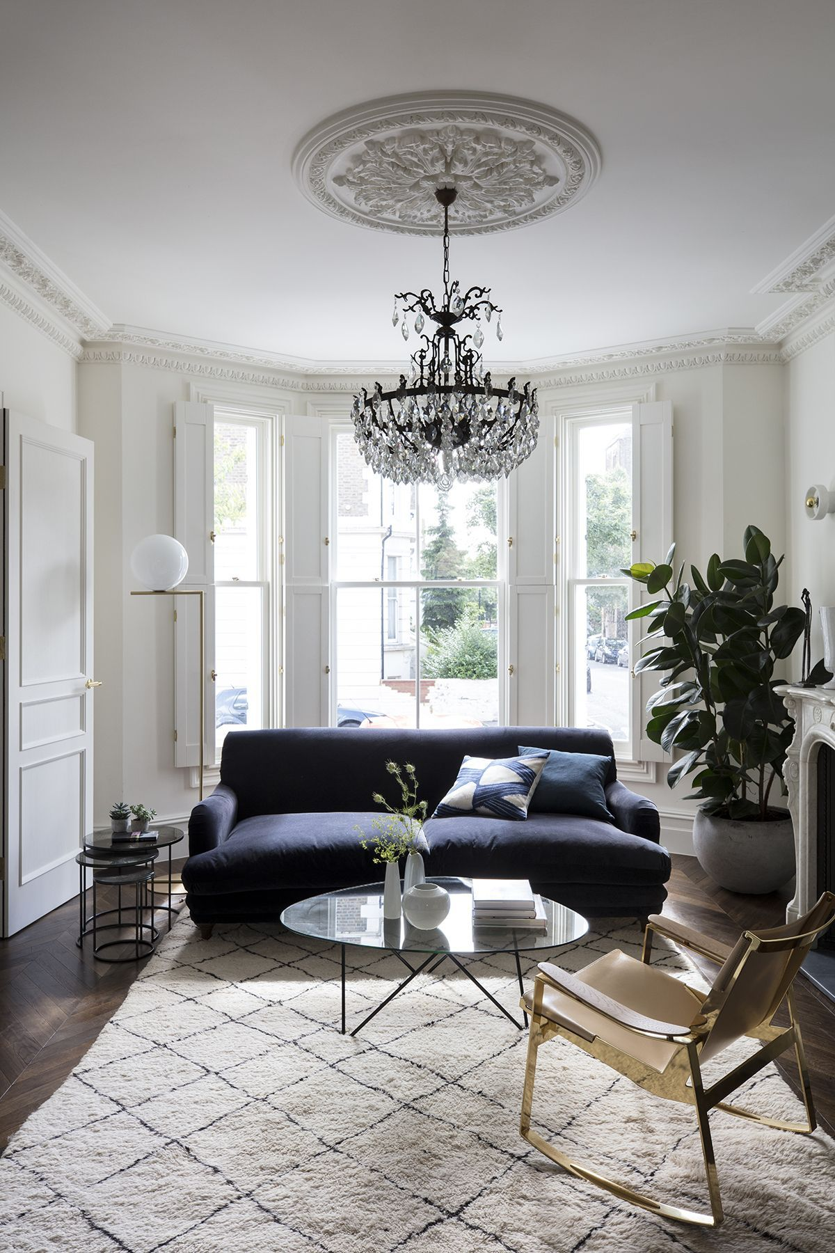 Take A Tour Of This Grand Victorian Home With The Perfect Blend Of Old And New Designs In 2020 Chandelier In Living Room Victorian Living Room Living Room Scandinavian
