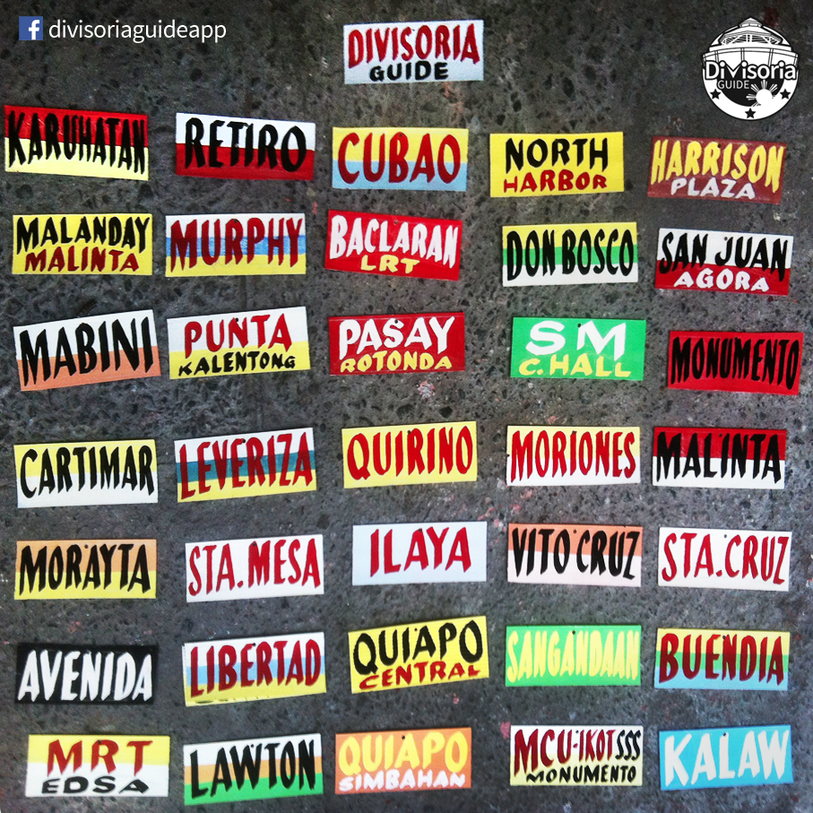 TABLE DECOR: Jeepney signs