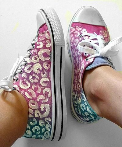 DIY Tie Dyed & Leopard Spotted