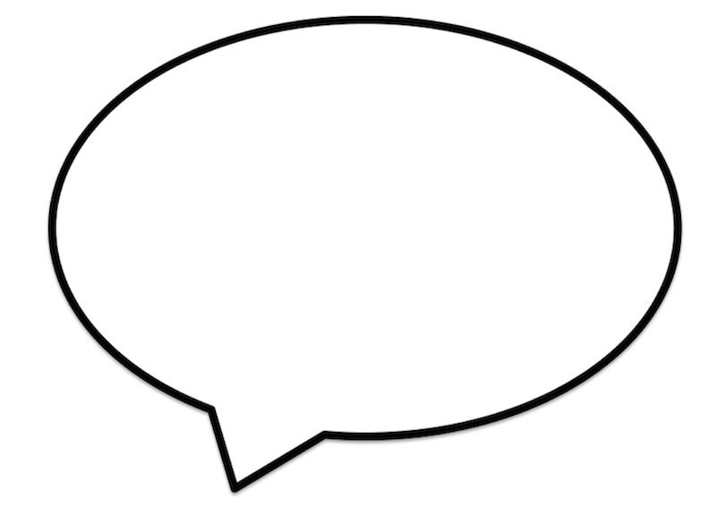 Gorgeous image intended for speech bubble printable