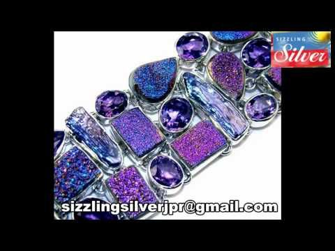 925 Sterling Silver Drusy Druzy Gemstone Handmade Bracelet Jewelry - http://videos.silverjewelry.be/silver-jewelry/925-sterling-silver-drusy-druzy-gemstone-handmade-bracelet-jewelry/