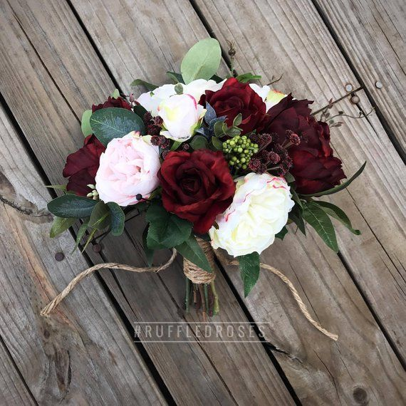 Burgund erröten Bouquet, Brautstrauß, Hochzeitsstrauß, Weinstrauß