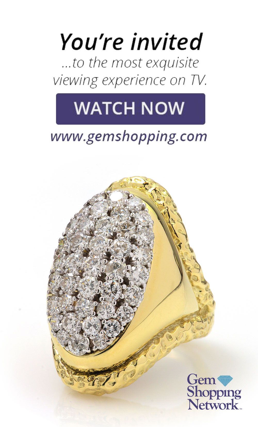 9dfef3289b884d Diamond Round Brilliant 18k 2 Tone Gold Ring. Tune into the most exquisite  jewelry on television! New jewelry arriving daily – pink Morganite earrings,  ...
