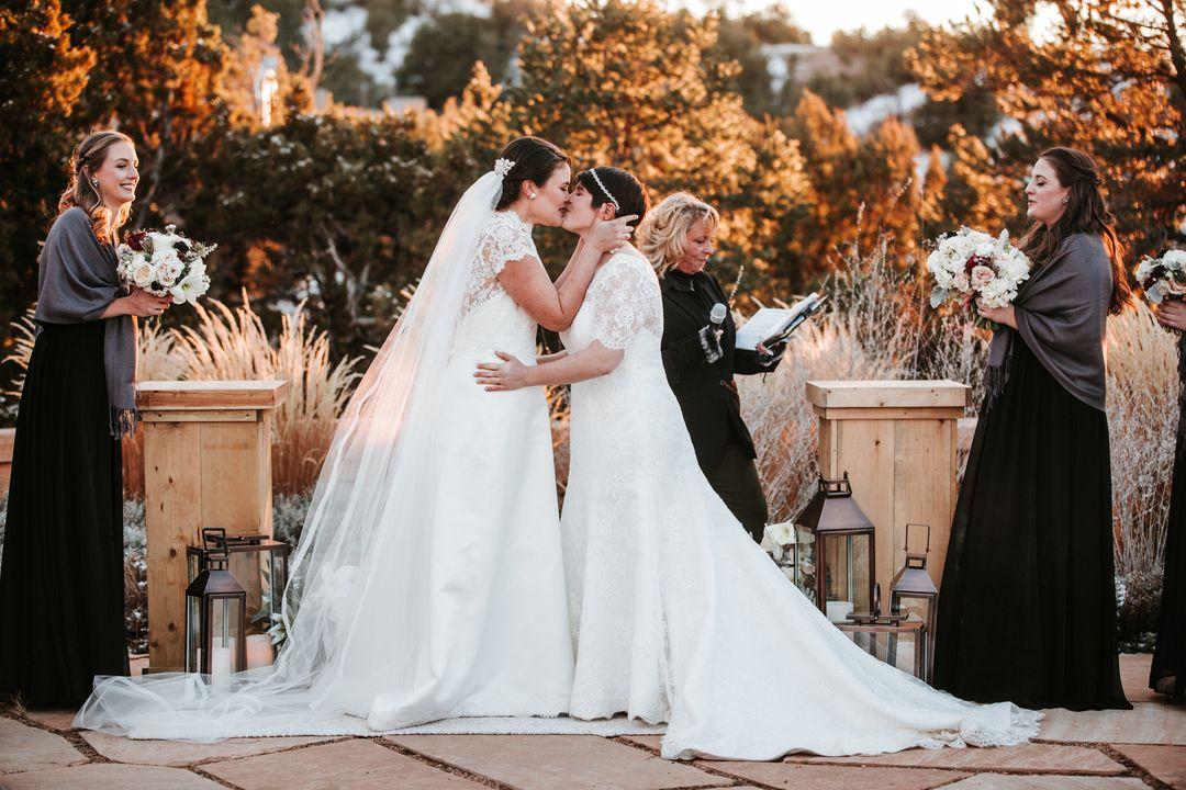 Metallics Accented Wedding At Four Seasons Resort Rancho Encantado Santa Fe Nm